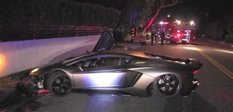 Chris Brown Lamborghini Chris Brown S Lamborghini Found Totaled In Beverly