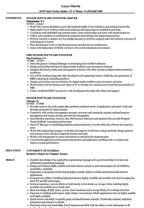 Senior Software Engineer Resume by Fancy Sle Resume For Senior Software Engineer Mold