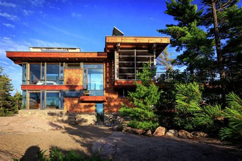 modern home design ontario modern timber country cottage in georgian bay