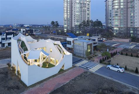 the flying house the flying house by iroje khm architects has landed near incheon south korea yatzer