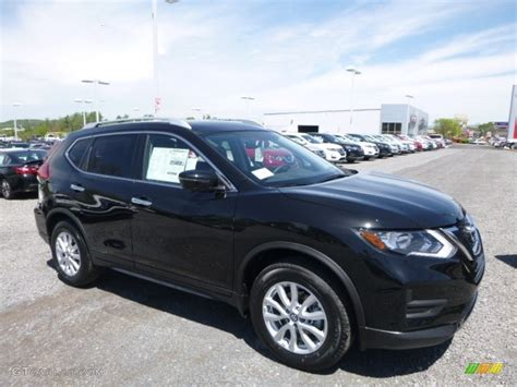 nissan rogue 2017 black 2017 magnetic black nissan rogue sv awd 120155504 photo