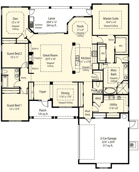 ranch house plans with mudroom plan 33075zr private master retreat options mud rooms ranch floor