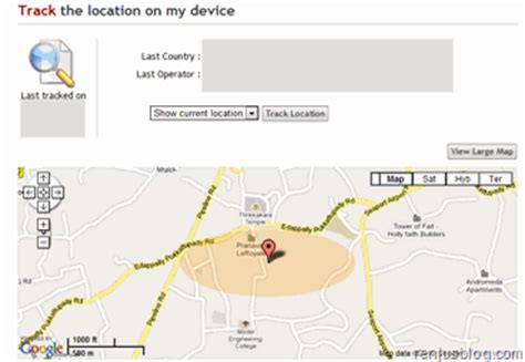 gps location android track lost mobile phone by turning on gps remotely