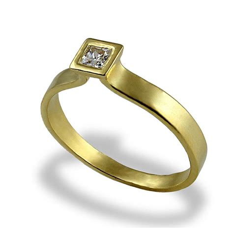 Gold Square Engagement Rings by Engagement Ring Square Ring Gold