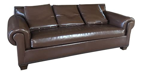 kravet vegan leather sofa chairish