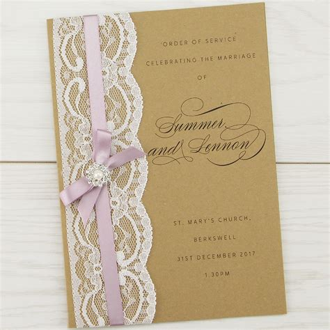 wedding invitation order imogen order of service invitation wedding invites