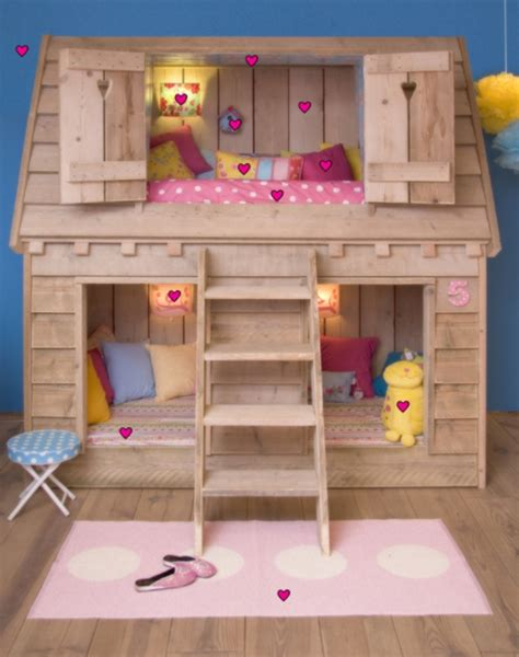 cute girl bunk beds amazing child s loft bed in the shape of bird s house