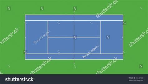Search A Court Typical Tennis Court Layout Plans Stock Photo 46878166