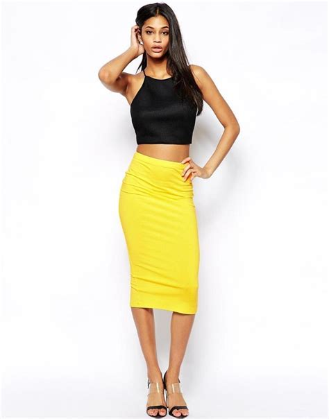 yellow pattern pencil skirt yellow pencil skirts a perfect attire for the banging the
