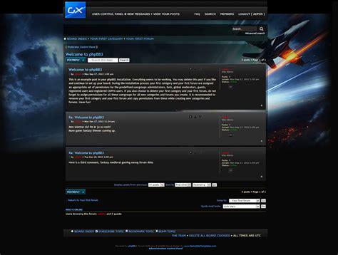 drupal themes clan gamesite phpbb forum skin
