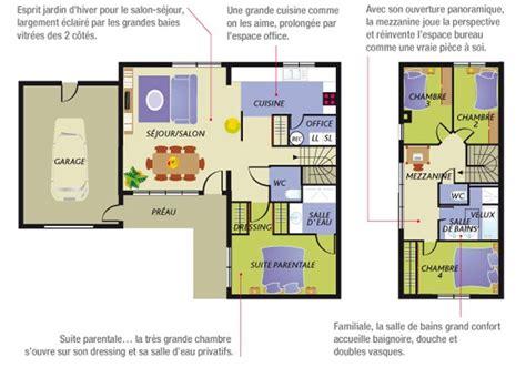 plan maison moderne 4 chambres construction maison neuve nacre lamotte maisons
