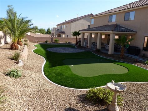 Backyard Landscaping Las Vegas by Desert Greenscapes Artificial Grass Las Vegas Nevada