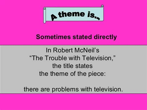 theme literary term definition literary terms theme