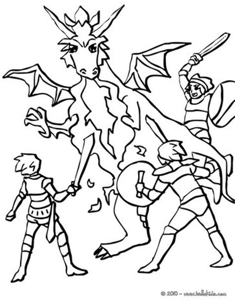 coloring pages of dragons and knights dragon against knights coloring pages hellokids com