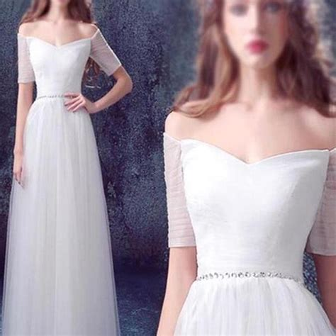Dress 17803 Lace white wedding dress tulle wedding dress simple wedding