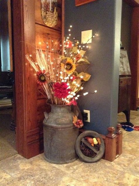 Home Made Fall Decorations by 40 Beautiful Diy Rustic Decoration Ideas For Fall