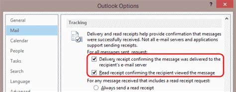 outlook 2019 2016 turn on delivery reciept