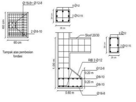 struktur beton bertulang  bangunan sederhana ilmutekniksipilcom