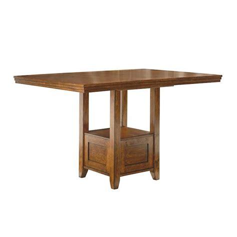 ralene medium brown rectangular dining room counter