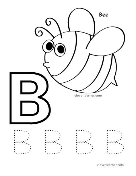 letter b writing and coloring sheets