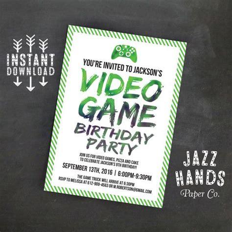 Printable Video Game Birthday Invitation Template Diy Video Game Invitation Gaming Party Gaming Invitation Template