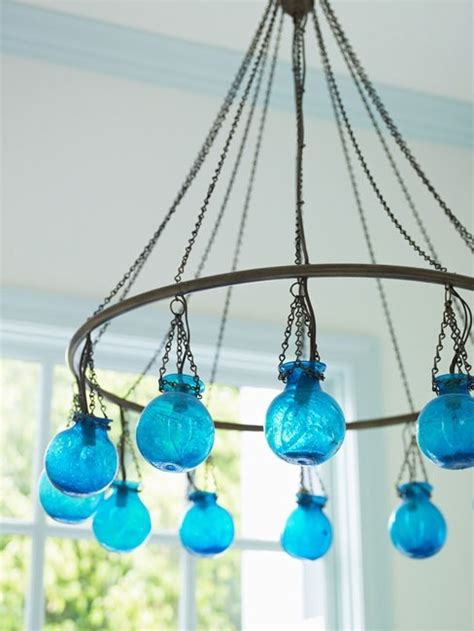 turquoise chandeliergreat idea vidrio lamparas