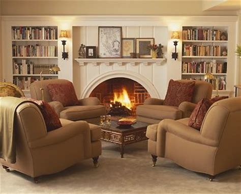 seating in front of fireplace would love 4 shabby chic chintz covered over stuffed