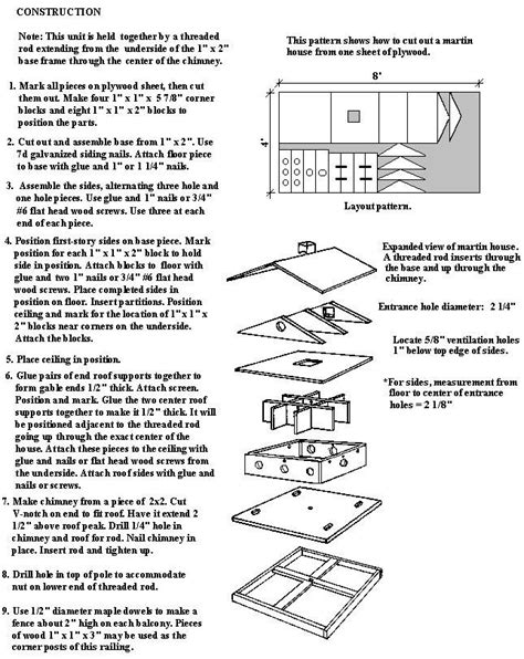Purple Martin Bird House Plans Purple Martin Bird House Plans Woodworking Projects