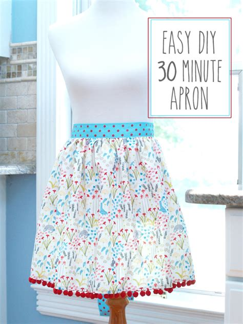 easy diy 30 minute apron
