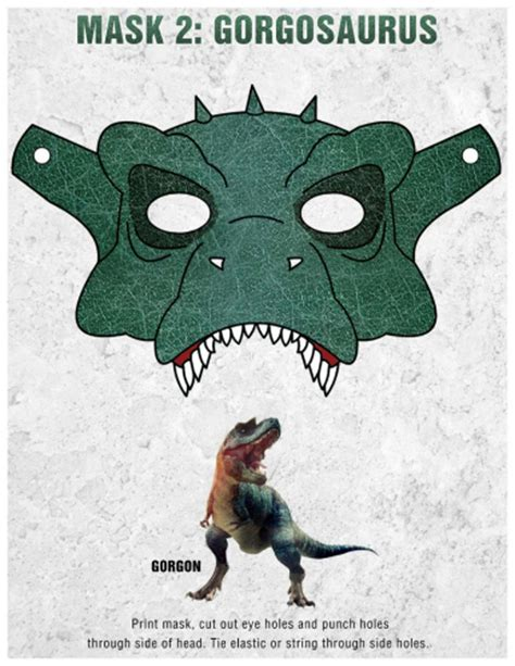 dinosaur mask template free printable gorgon dinosaur mask craft printable coloring