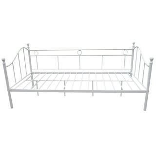 div 225 n cama de forja 197x90x97cm blanco las mejores - Cama Forja Carrefour