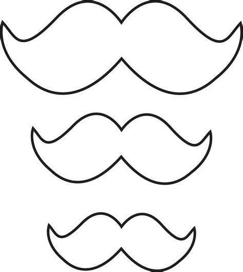free printable mustache templates free mustache template clipart best