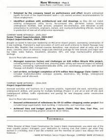 general contractor resume sle contractor it resume sales contractor lewesmr