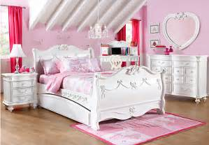 Princess Bedroom Set Disney Princess White 5 Pc Sleigh Bedroom Disney