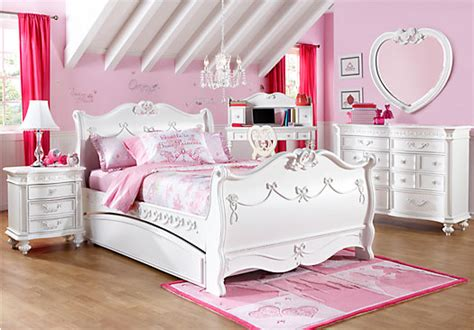 disney bedroom set disney princess white 5 pc full sleigh bedroom disney