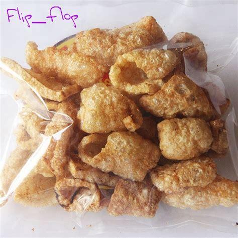 jual kerupuk rambak kulit babi rejeki 75 gram asli dari bali non halal flip flop acc