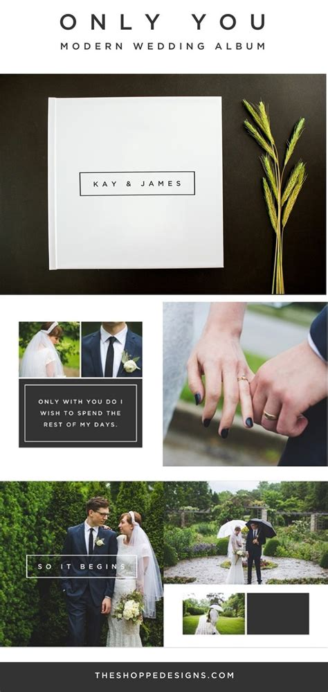 Diy Wedding Album Uk by Best Only You Modern Wedding Album Design Photoshop And