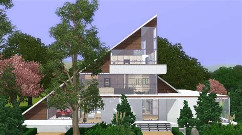 modern a frame homes the sims 3 house modern a frame family home youtube