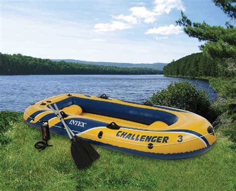 blow up boat valve intex challenger 3 inflatable boat with oars three