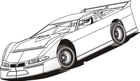 coloring pages of stock cars model drawing color clipart clip art library