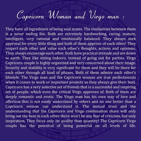 capricorn woman and virgo man i love him before i read