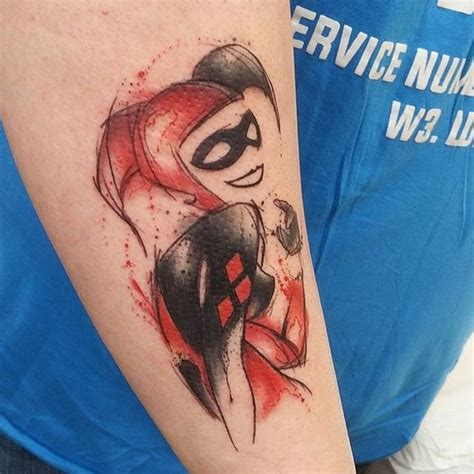 watercolor harley quinn tattoo watercolor harley quinn and watercolors on