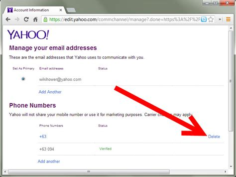 yahoo email password reset phone number how to change a mobile number in yahoo messenger 9 steps
