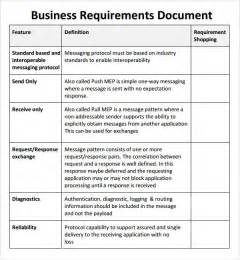 business requirements document template free business