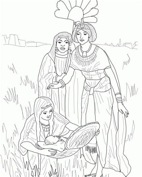 coloring pages of baby moses and miriam baby moses coloring pages coloring home