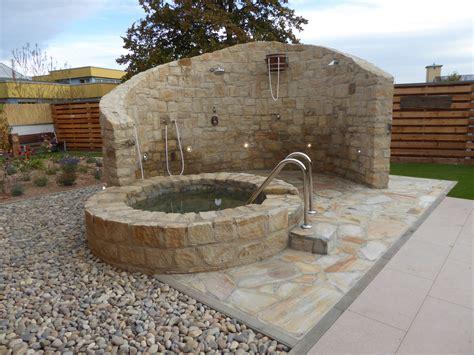 au 223 endusche und tauchbecken in sauna anlage pflegeleichte - Tauchbecken Garten