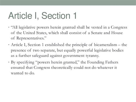 us constitution article 1 section 1 articles of the constitution