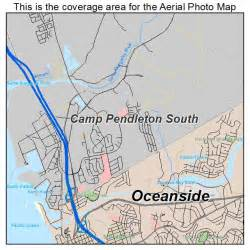 aerial photography map of c pendleton south ca california