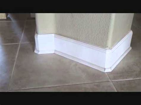 Replacing Bathroom Baseboards Does Baseboard Get Installed Before Or After A Tile Floor