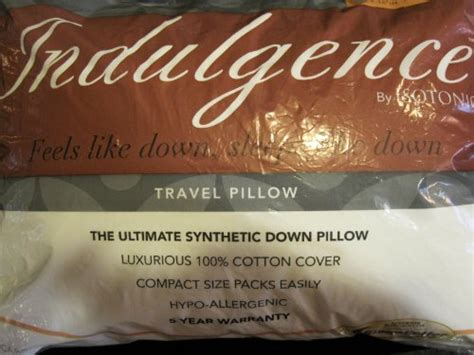 Indulgence Pillow By Isotonic by Indulgence Travel Pillow By Isotonic 16 Quot X12 Quot Dealtrend